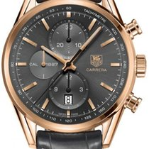 TAG Heuer Rose gold Automatic Grey 41mm new Carrera Calibre 1887