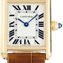 Cartier Yellow gold Quartz Silver Roman numerals 29.5mm new Tank Louis Cartier