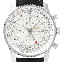 Breitling Navitimer World Automatik Chronograph Silber