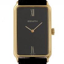 Zenith 18kt Gelbgold Handaufzug Lederband 35x22mm Vintage...
