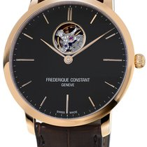 Frederique Constant Slimline Heart Beat Automatic Black United States of America, New York, Brooklyn