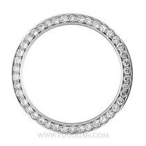 18k white gold diamond bezel