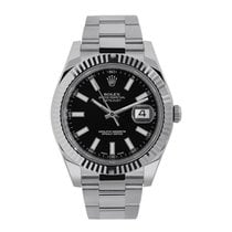 Rolex Datejust II Gold/Steel 41mm Black No numerals