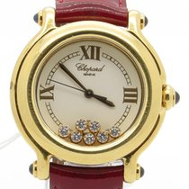 Chopard Happy Sport Floating Diamonds Solid 18k Yellow Gold...