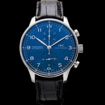 IWC Portugieser Chronograph Blue Steel/Leather 40.9mm - IW371491