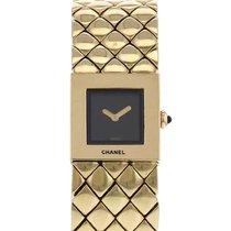 Chanel Or jaune Quartz Noir 19mm occasion