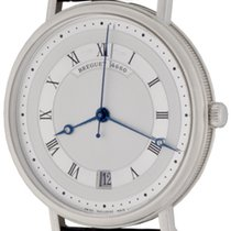 Breguet White gold Automatic Silver Roman numerals 35mm pre-owned Classique