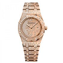 Audemars Piguet Ladies Royal Oak Quartz 33mm Rose Gold...