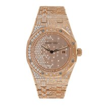 Audemars Piguet Rose gold Quartz Pink No numerals 33mm new Royal Oak Lady