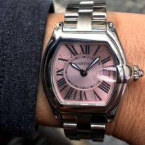 Cartier Roadster Stål 31.5mm Rosa Romersk