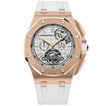 오드마피게 Royal Oak Offshore Tourbillon Chronograph 44mm 은색