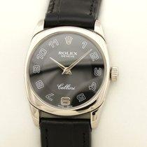 Rolex Cellini Danaos Vitguld 25mm Svart Arabiska