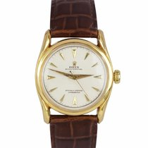 Rolex Oyster Perpetual 34 Yellow gold 34mm White United States of America, New York, Massapequa Park