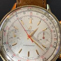 Breitling Chronomat gebraucht 37mm Silber Chronograph Leder