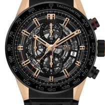 TAG Heuer Carrera Calibre HEUER 01 Rose gold 43mm Black