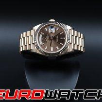 Rolex Oro rojo Automático Marrón 40mm nuevo Day-Date 40