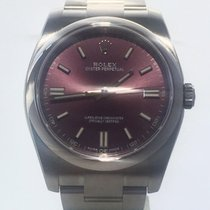 Rolex Oyster Perpetual 36 Steel 36mm Purple No numerals
