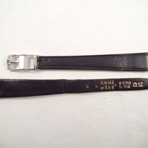 Omega 13 mm black cow leather Omega strap, 8mm steel buckle NEW