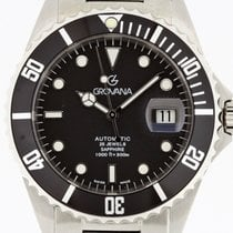 Grovana Automatic Diver BLACK Bezel NEW 2 Years Warranty Swiss...