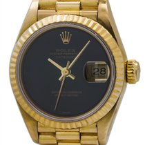 Rolex Lady Oyster Perpetual Datejust Onyx President ref 69178...