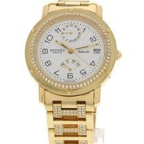 Hermès 18k Yellow Gold & Diamonds Automatic Watch