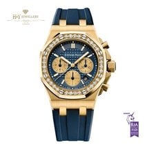 Audemars Piguet Royal Oak Offshore Lady Yellow gold 37mm Blue No numerals