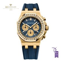 Audemars Piguet Royal Oak Offshore Lady Gelbgold 37mm Blau Keine Ziffern