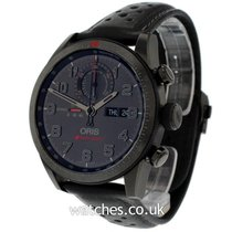 Oris Audi Sport pre-owned 44mm Black Chronograph Date Leather