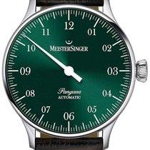 Meistersinger Pangaea Steel 40mm Green Arabic numerals