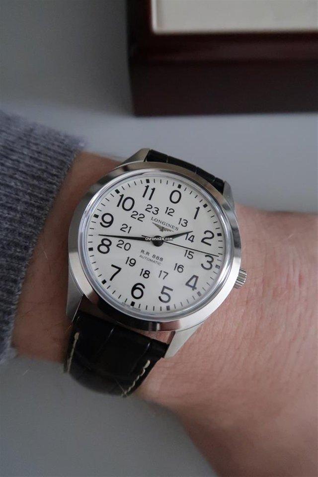 Longines HERITAGE RAILROAD White Dial Arabic No Black Leather... eladó 426  097 Ft Seller státuszú eladótól a Chrono24-en 9cebfb92e3