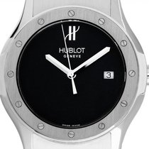 Hublot Steel Quartz Black 41mm pre-owned Classic Fusion Quartz