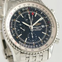 百年靈 Navitimer World 鋼 46mm 黑色