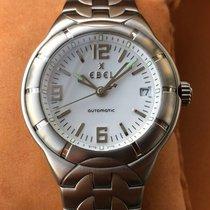 Ebel E-Type Stahl 38mm Weiß Arabisch