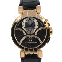 Harry Winston Rose gold Automatic Blue 39mm pre-owned Premier