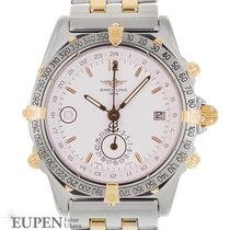 Breitling Duograph Gold/Steel 39mm White No numerals