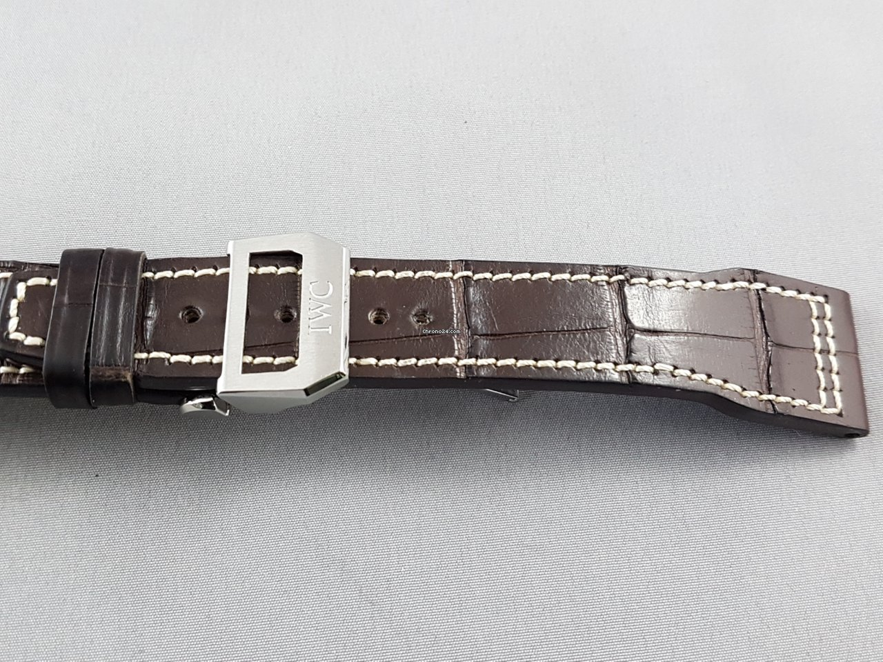 5e91efc1f IWC Pilot's series leather strap with deployment clasp 21 mm for $950 for  sale from a Trusted Seller on Chrono24