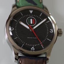 Egotempo Steel 45mm Automatic Nero secondi centrali rossi new