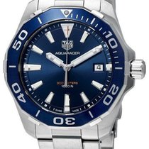 TAG Heuer Aquaracer Blue Dial Brushed SS Quartz Watch WAY111C....