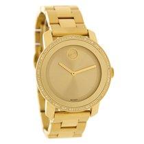 Movado Bold Ladies Diamond Gold Tone Swiss Quartz Watch 3600150