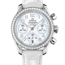 Omega 324.18.38.40.05.001 Steel 2020 Speedmaster Ladies Chronograph 38mm new