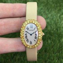 Cartier Baignoire gebraucht 23mm Gelbgold
