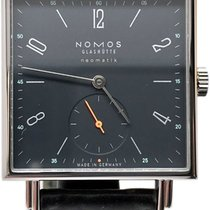 NOMOS Tetra Neomatik Steel 33mm Blue Arabic numerals United States of America, Florida, Naples