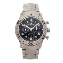 Breguet Type XX - XXI - XXII pre-owned 39.5mm Black Flyback Date Titanium