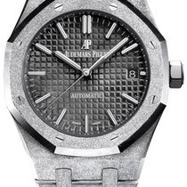Audemars Piguet White gold Automatic Black No numerals 37mm new Royal Oak Lady