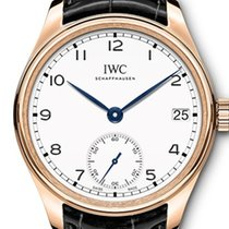 IWC Red gold Manual winding White Arabic numerals 43mm new Portuguese Hand-Wound