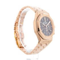 Audemars Piguet Royal Oak Chronograph pre-owned 41mm Black Date Rose gold