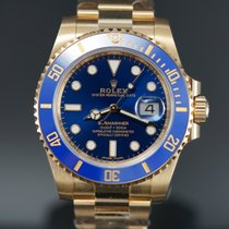 Rolex Submariner Date Yellow gold 40mm Blue No numerals