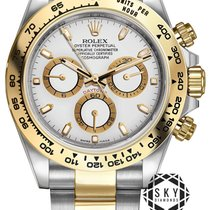 Rolex Daytona Gold/Steel 40mm Black No numerals United States of America, New York, New York