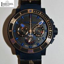 Ulysse Nardin Marine Chronograph Steel 44mm Black No numerals