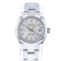 Rolex Lady-Datejust pre-owned 28mm Silver Date Steel